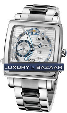 Quadrato Dual Time Perpetual 42x42mm 320-90-8M/91