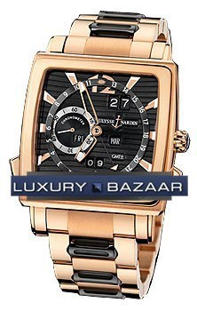 Quadrato Dual Time Perpetual 42x42mm 326-90-8M/92