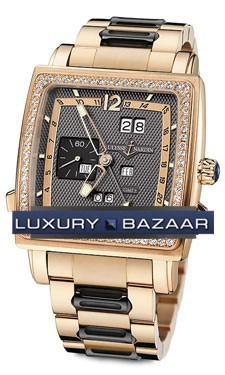 Quadrato Dual Time Perpetual 42x42mm 326-90B-8/69