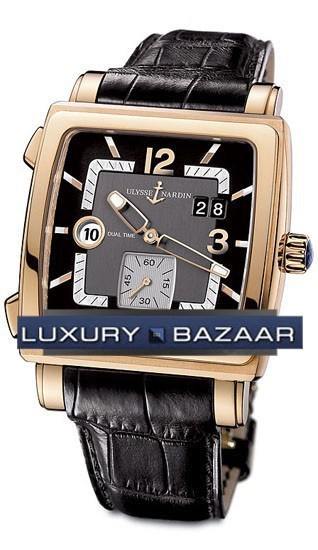 Quadrato Dual Time 42x42mm 246-92/692