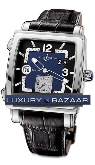 Quadrato Dual Time 42x42mm 243-92/632