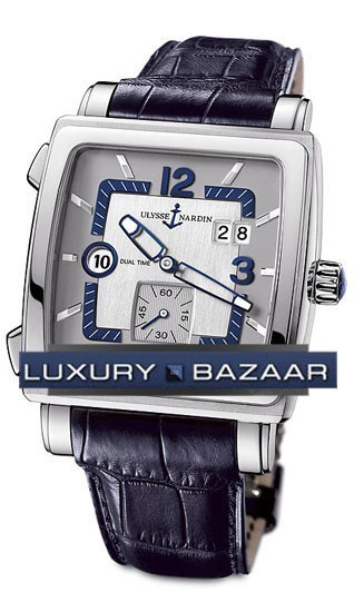 Quadrato Dual Time 42x42mm 243-92/601