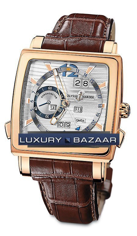 Quadrato Dual Time Perpetual 42x42mm 326-90/91