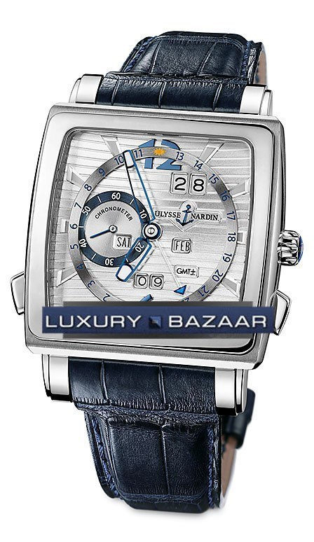 Quadrato Dual Time Perpetual 42x42mm 320-90/91