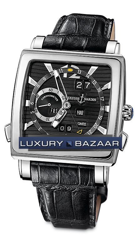 Quadrato Dual Time Perpetual 42x42mm 320-90/92