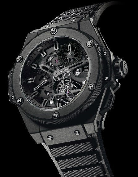 King Power Tourbillon GMT All Black (Ceramic / Black / Rubber Strap)