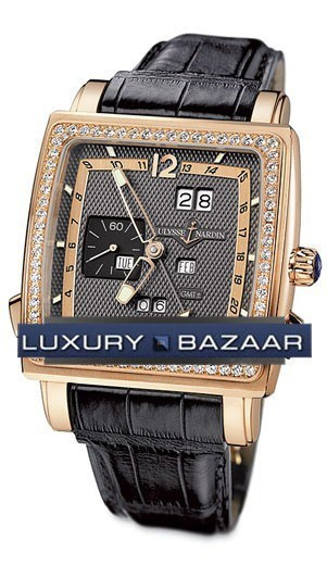 Quadrato Dual Time Perpetual 42x42mm 326-90B/69