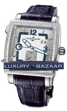 Quadrato Dual Time 42x42mm 243-92B/601