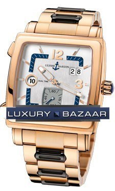 Quadrato Dual Time 42x42mm 246-92-8/600