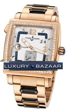 Quadrato Dual Time 42x42mm 246-92B-8/600