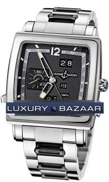Quadrato Dual Time Perpetual 42x42mm 320-90-8/62