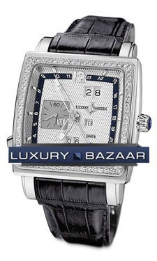 Quadrato Dual Time Perpetual 42x42mm 320-90B/61