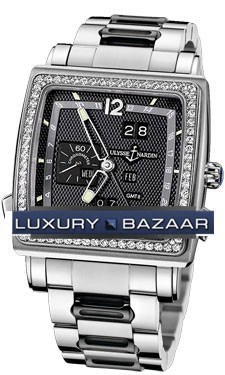 Quadrato Dual Time Perpetual 42x42mm 320-90B-8/62