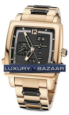 Quadrato Dual Time Perpetual 42x42mm 326-90-8/62