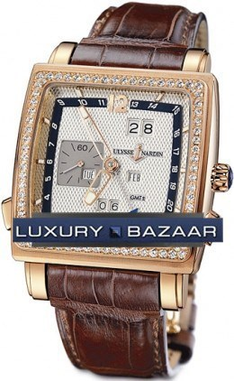 Quadrato Dual Time Perpetual 42x42mm 326-90B/61