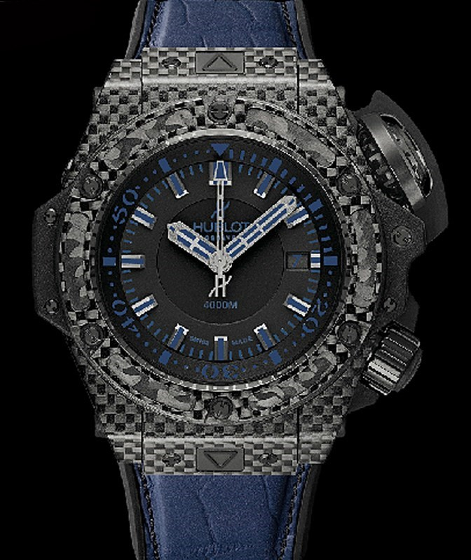 King Power Oceanographic 4000 All Black Blue 731.QX.1190.GR.ABB12