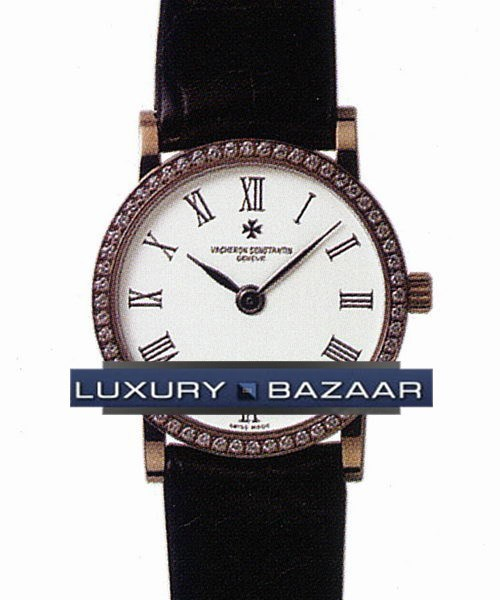 Patrimony Ladies (RG / Silver / Leather)