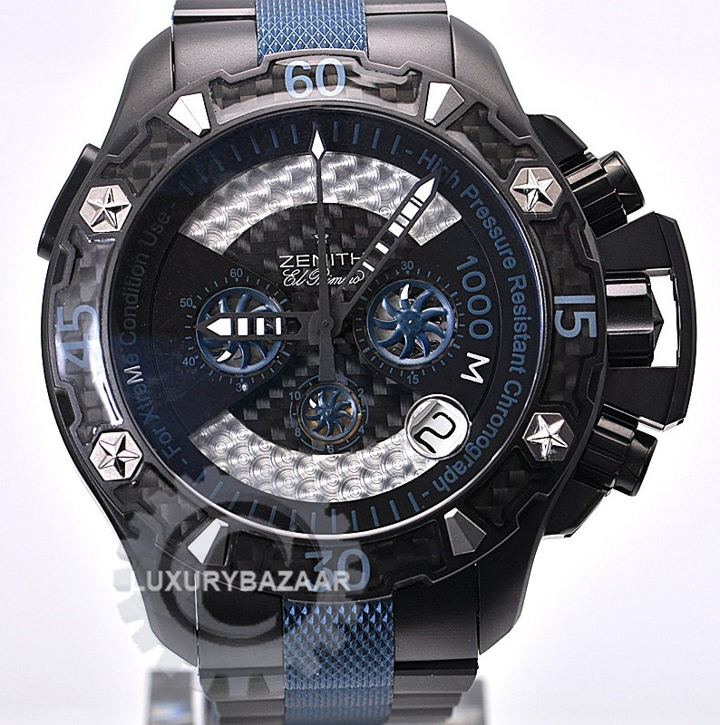 Defy Xtreme Sea Chronograph (Black Ti / Black / Black Ti Bracelet)