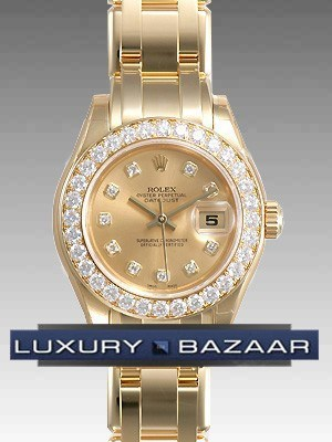 Rolex  Datejust Pearlmaster (YG- Diamonds/ Gold-Diamonds /YG)