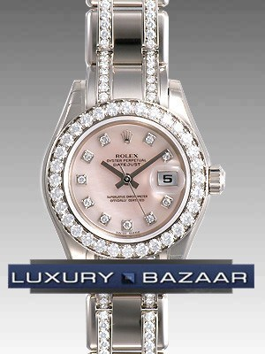 Datejust Pearlmaster (WG-Diamonds/ Pink MOP-Diamonds  /WG)