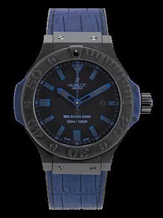 Big Bang King All Black Blue 322.CI.1190.GR.ABB09