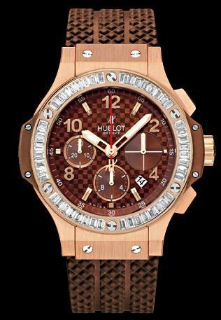 Big Bang Cappuccino Gold  (RG- Baguette/Chocolate Carbon stamped Dial  /RG Bracelet)