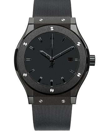 Classic Fusion All Black (Black Ceramic/Black/Rubber strap)