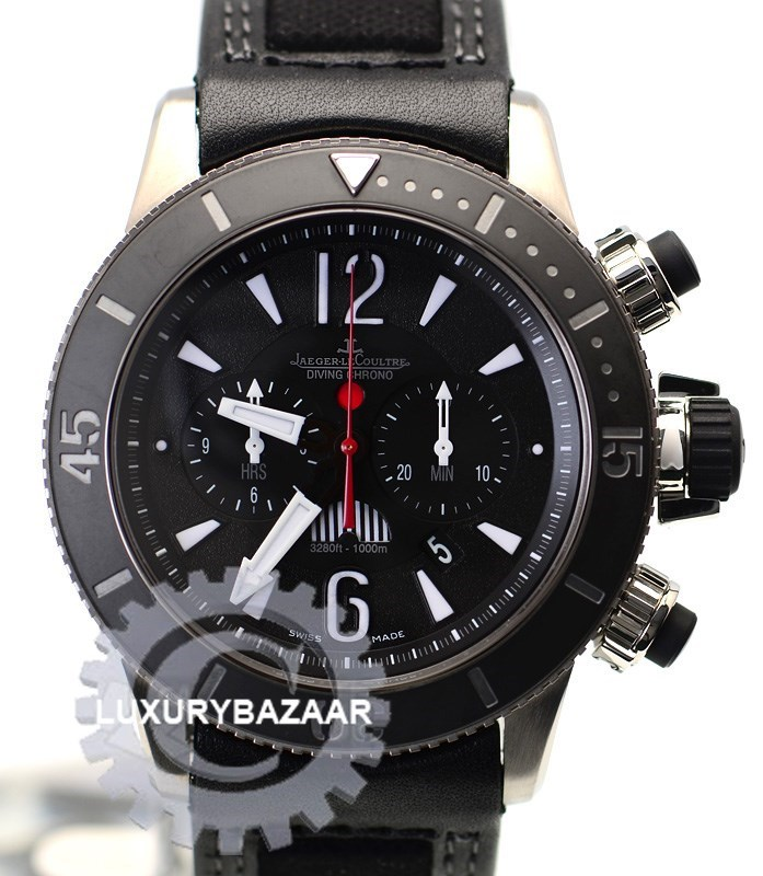 Master Compressor Diving Chronograph GMT Navy SEALs  (Titanium / Black / Leather Strap)