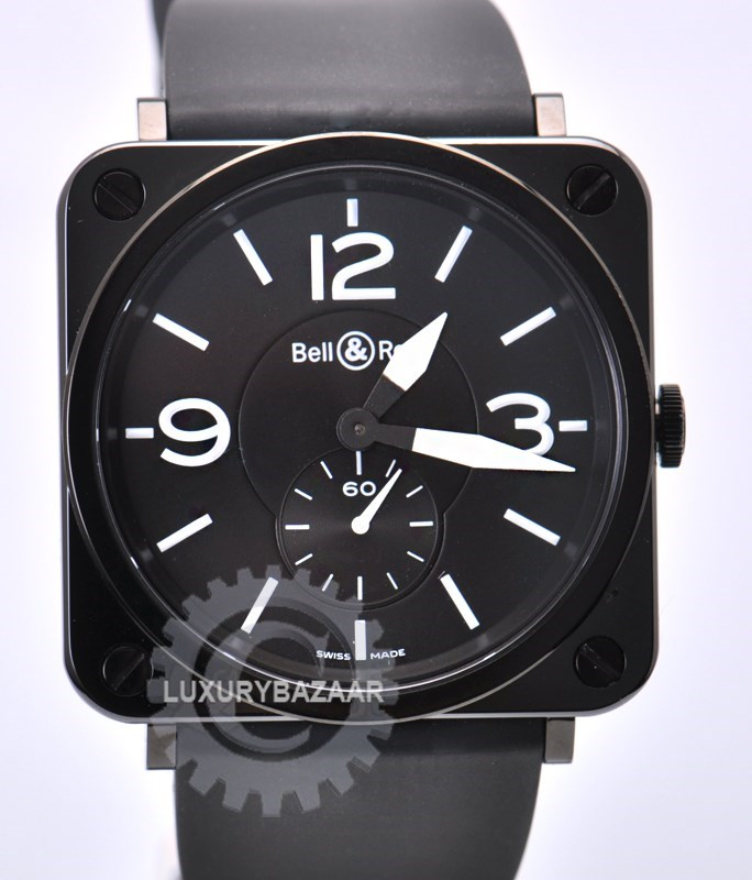 BR-S Ceramic (SS-Ceramic/Black/ Rubber strap)