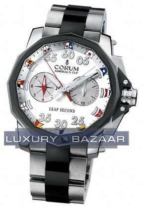 Corum Admiral's Cup Leap Second 48 (Titanium / Black / Rubber)
