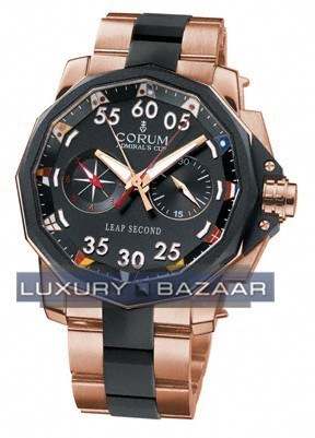 Corum Admiral's Cup Leap Second 48 (RG/Black/RG-Rubber)