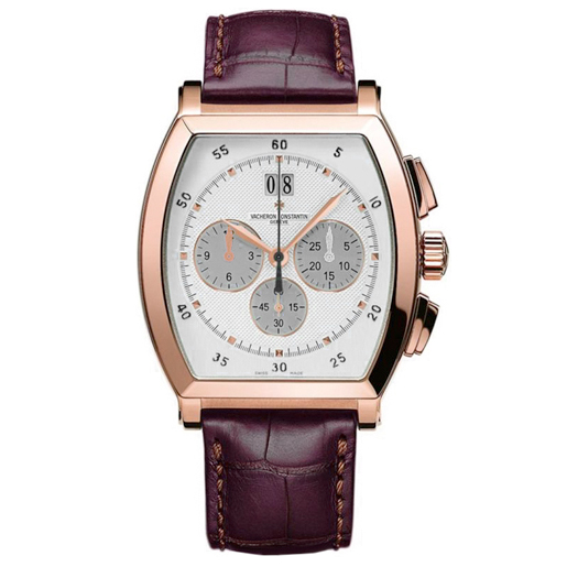 Malte Tonneau Chronograph (RG / Silver/ Leather)