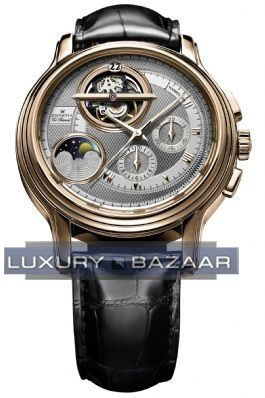 ChronoMaster Haute Horlogerie Tourbillon Moonphase (RG/Silver Guilloche/Leather)
