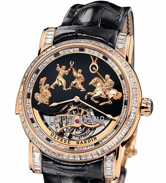 Minute Repeater -Genghis Khan (RG/Black/Leather Strap)