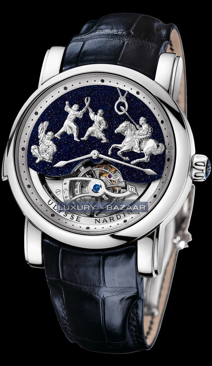 Minute Repeater -Genghis Khan (Platinum/Leather Strap)