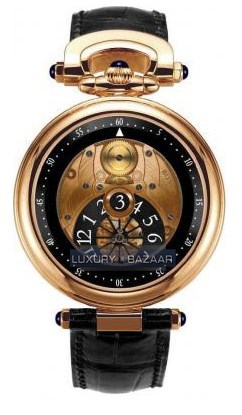 Fleurier 42 Jumping Hours Amadeo (RG / Openwork / Leather)
