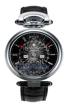 Fleurier 42 Perpetual Calendar GMT Amadeo (WG / Black guilloche / Leather)