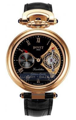 Fleurier 44 Tourbillon 7-days Amadeo Limited Edition (RG / Black enamel / Leather)