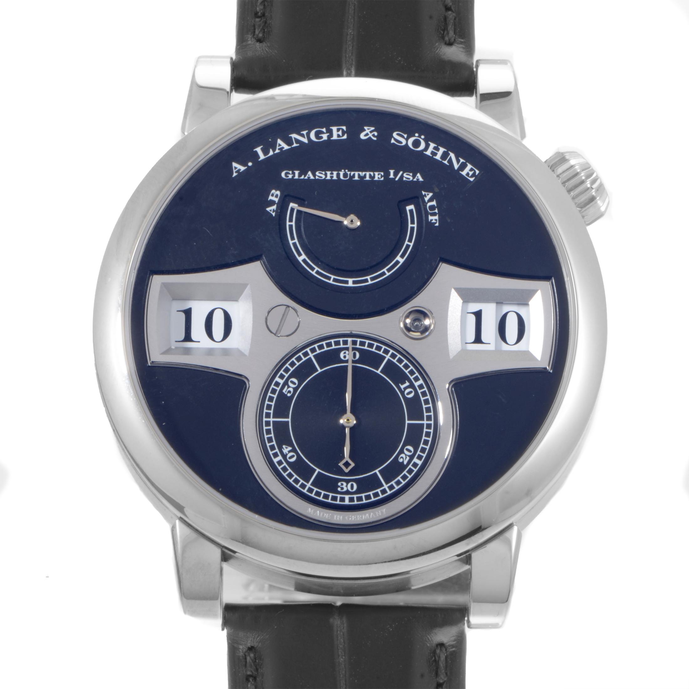 Zeitwerk Men's Manually Wound White Gold Watch 140.029