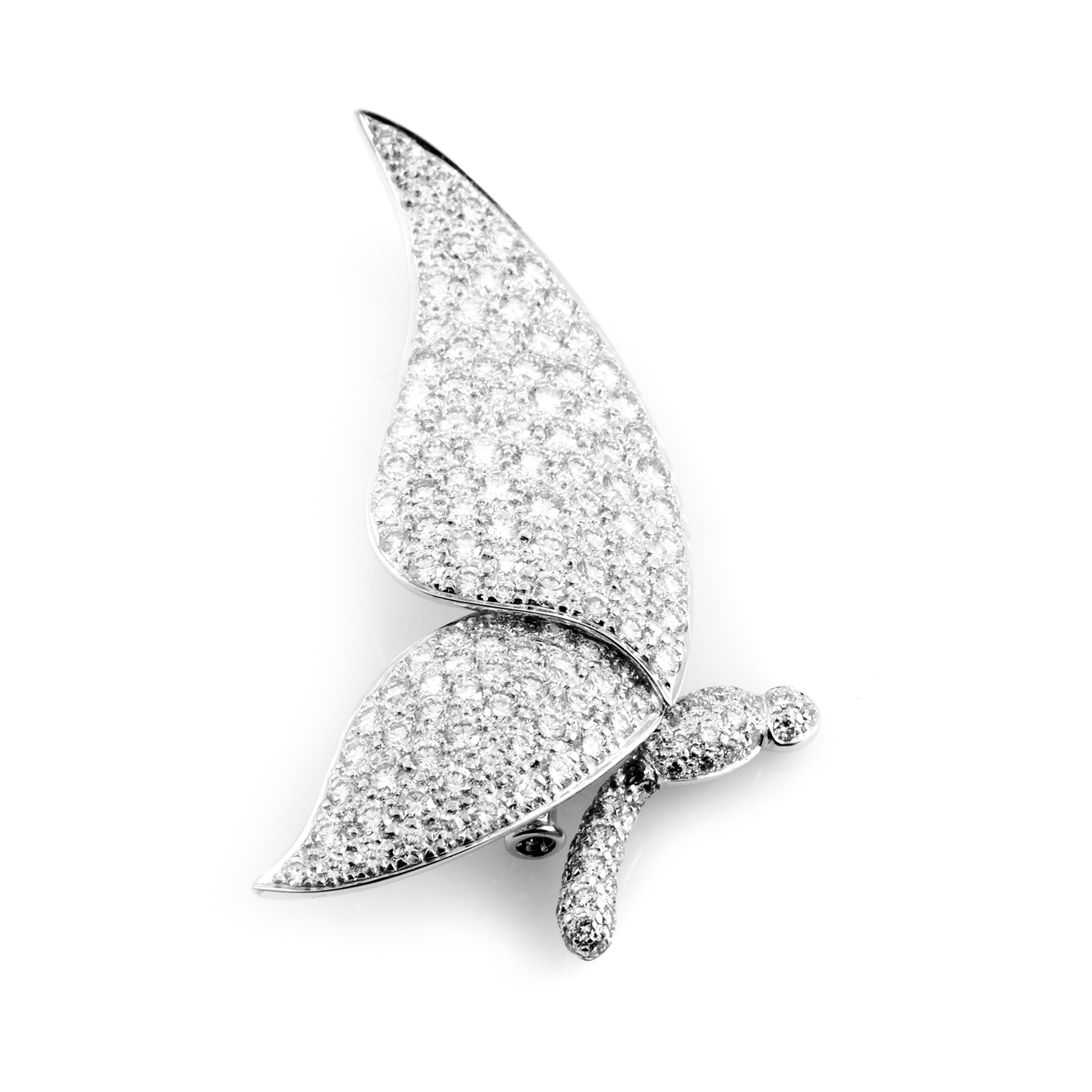18K White Gold Diamond Papillon Pin AMBAG07-080312
