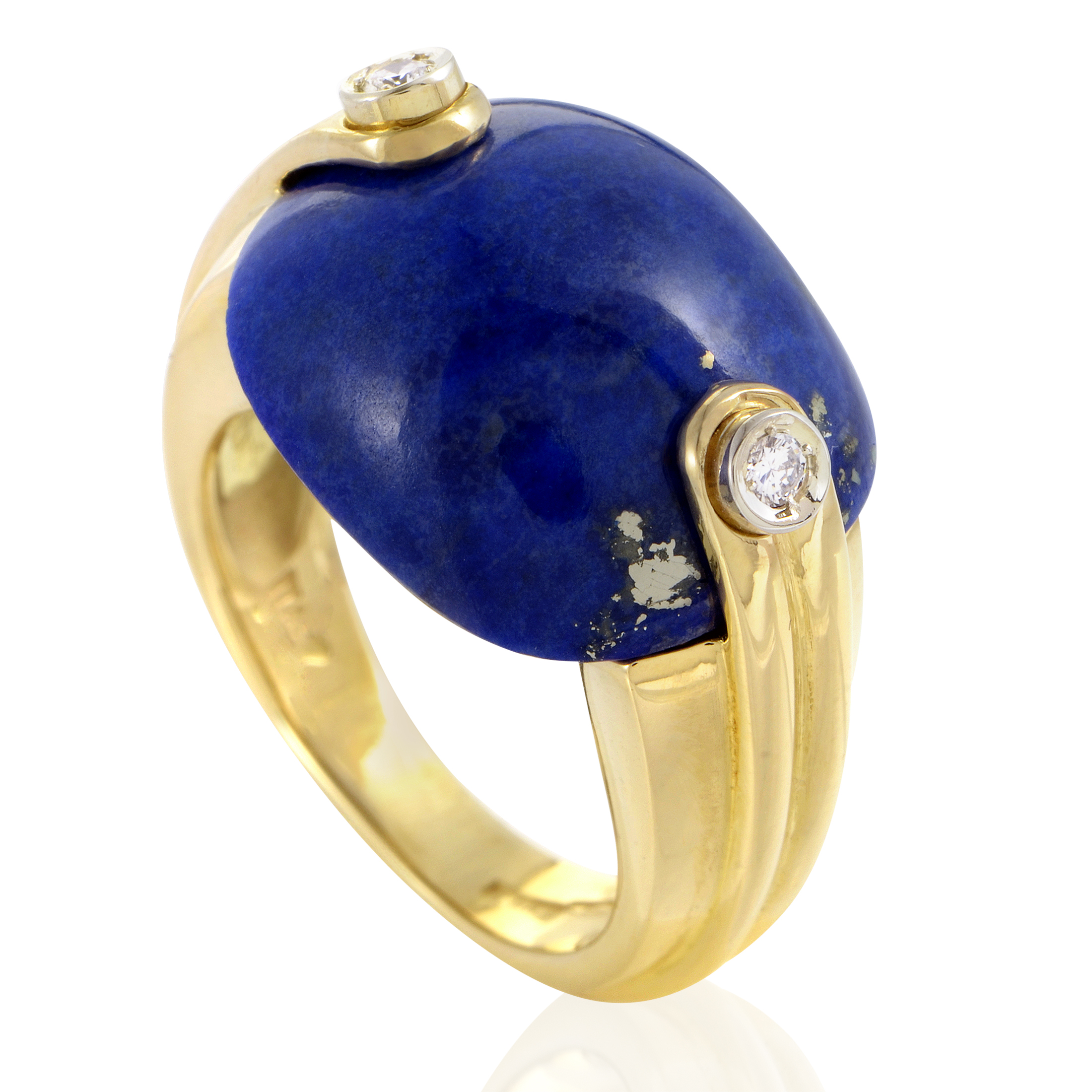 Antonini Women's 18K Yellow Gold Diamond & Lapis Lazuli Ring