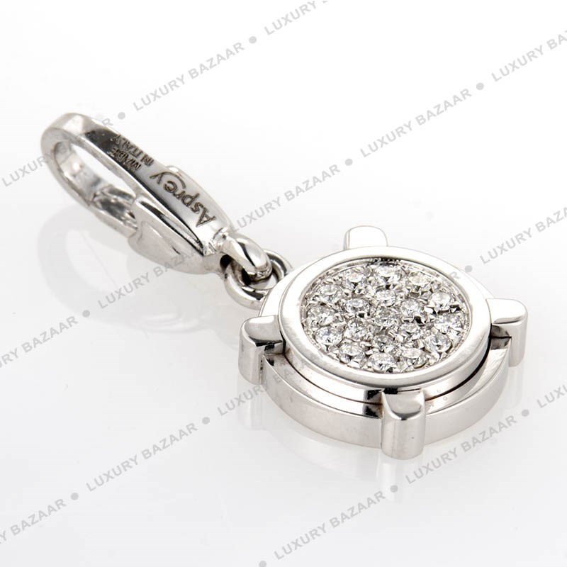 18K White Gold Diamond Pave Charm