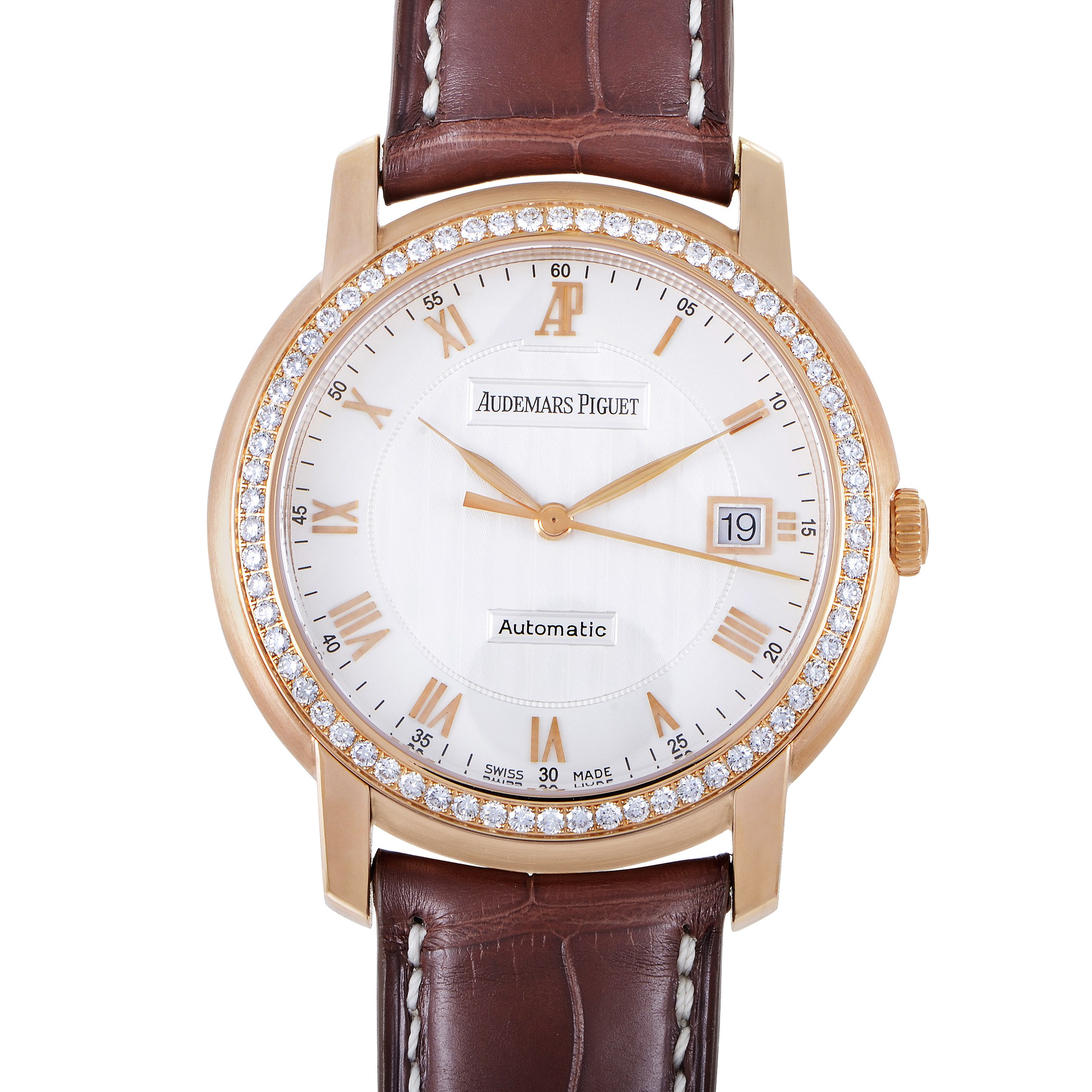 Jules Audemars Automatic Mens Diamond Watch 15140OR.ZZ.A088CR.01