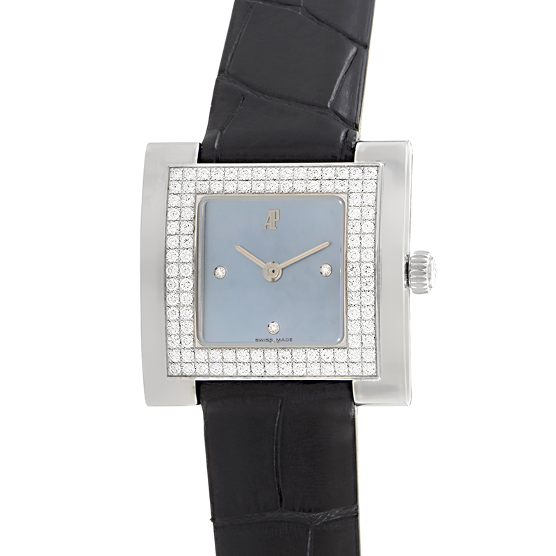 Ladies Square 18K White Gold Diamond Watch 67392BC.ZZ.A022LZ.01