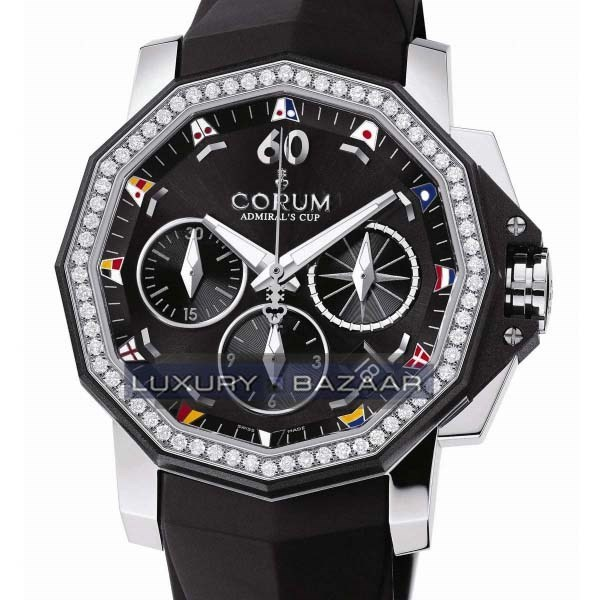 Admirals Cup Chronograph 40 Diamonds (SS-Diamonds / Black /  Rubber)