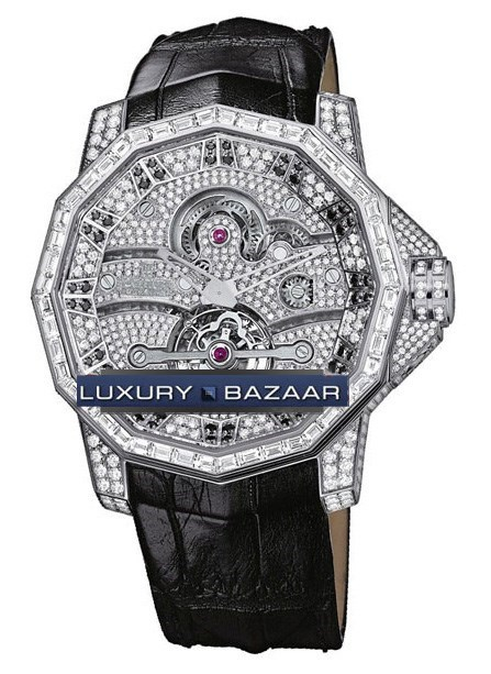 Admirals Cup Tourbillon 48 (WG / Diamonds / Leather)