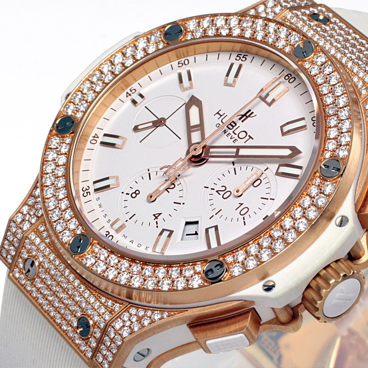 Big Bang Gold White Pave 301.PE.2180.RW.1704