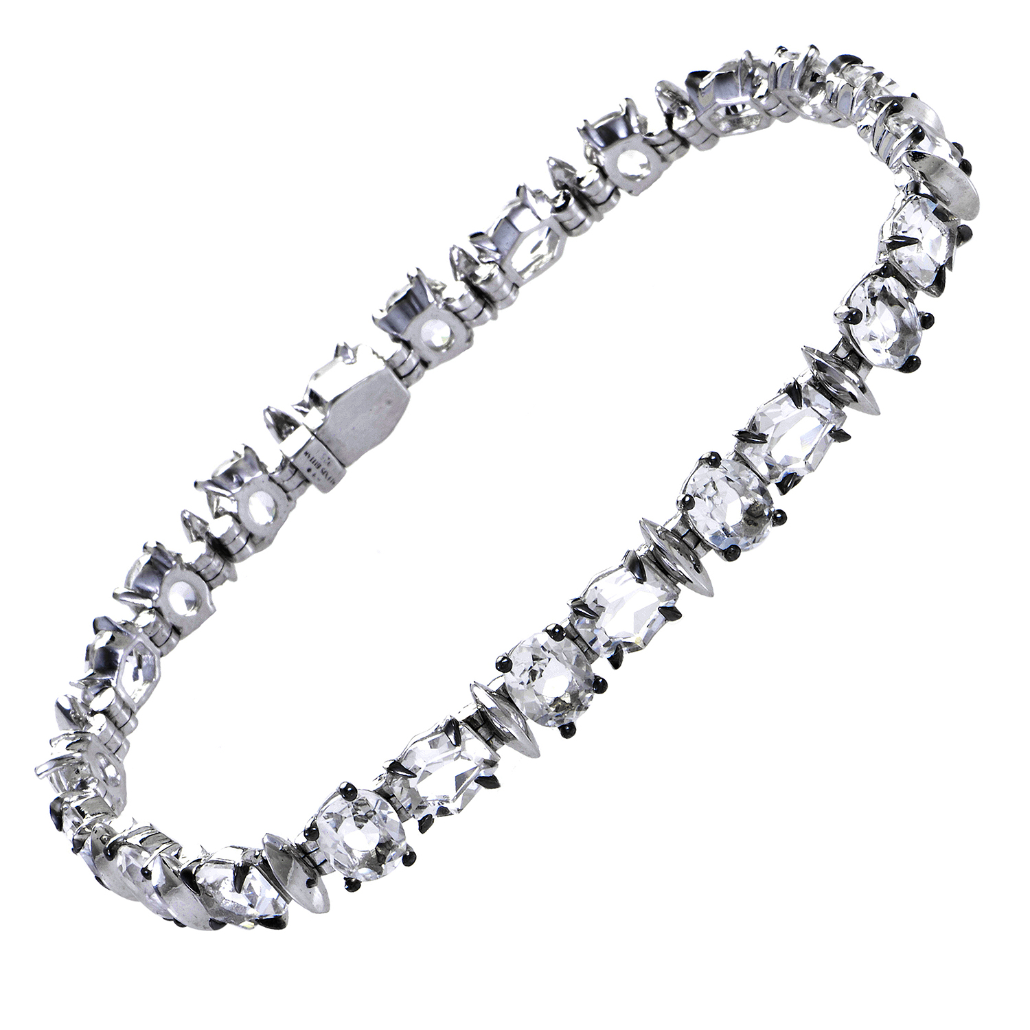 Women's Sterling Silver & Clear Quartz Bracelet FN51B020