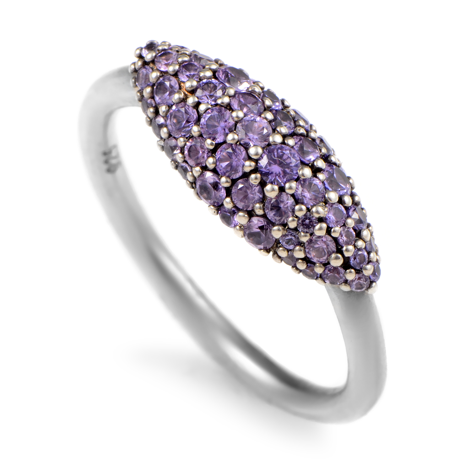 Marquis Women's Sterling Silver & Purple Sapphire Ring