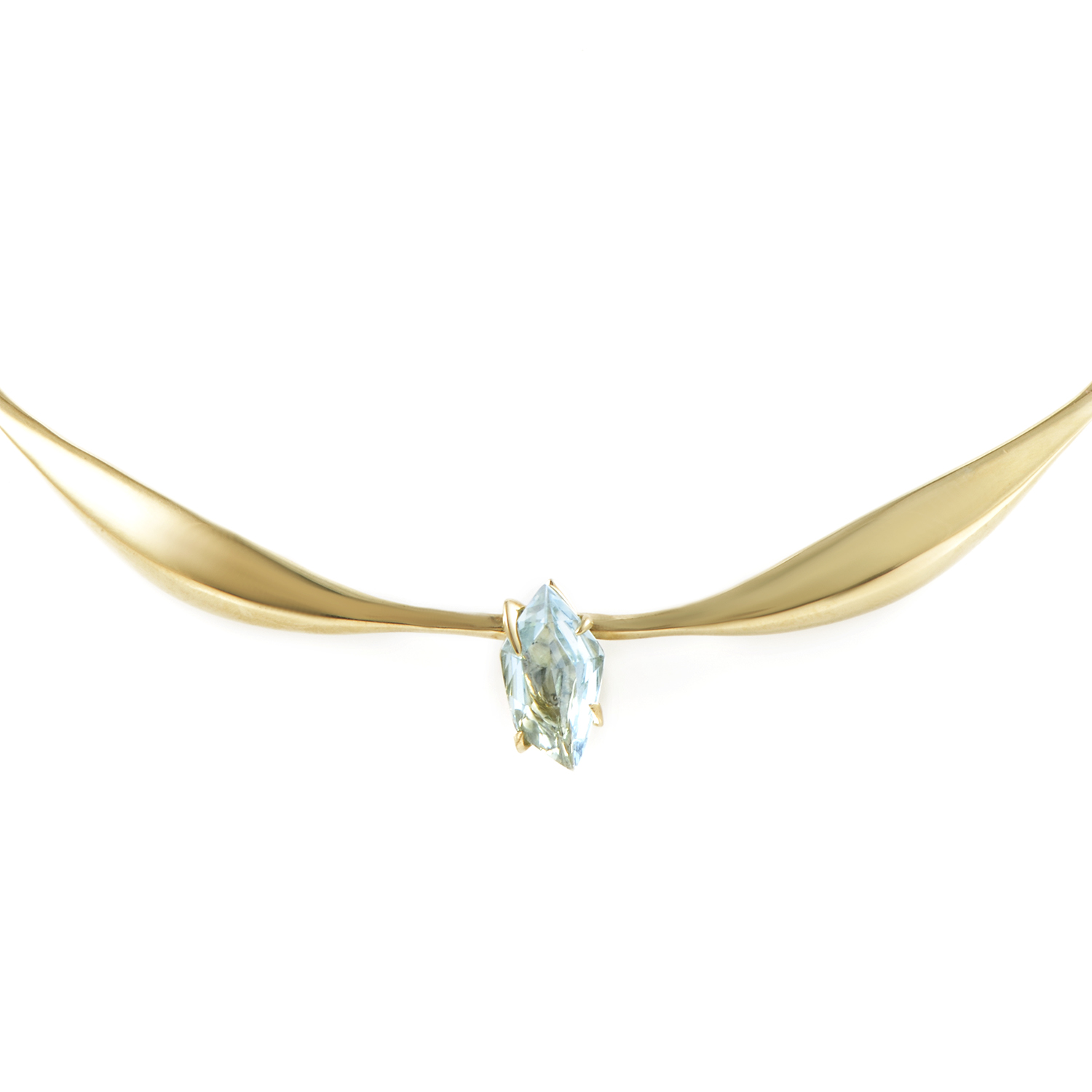 18K Yellow Gold Topaz Choker Necklace FN44N010
